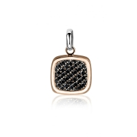Zinzi Square Rose Gold Plated Pendant