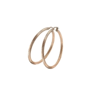 Zinzi Rose Gold Plated 45mm Hoop Earrings