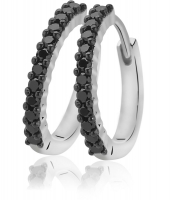 Zinzi Silver CZ Set Earring Hoops