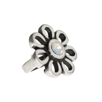 Senta La Vita White Opal Swarovski Flower Charm