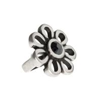 Senta La Vita Jet Hematite Swarovski Flower Charm