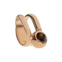 Senta La Vita Smoked Topaz Swarovski Double Ring Charm