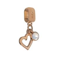 Senta La Vita White Opal Swarovski Open Heart Dangle Charm
