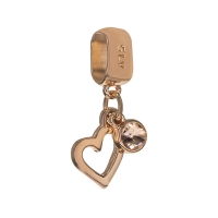 Senta La Vita Peach Swarovski Open Heart Dangle Charm