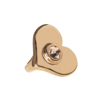Senta La Vita  Light Peach Swarovski Heart Charm