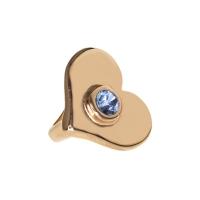 Senta La Vita  Light Sapphire Swarovski Heart Charm