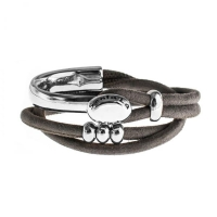 Senta La Vita Taupe Double Wrap Half Bracelet