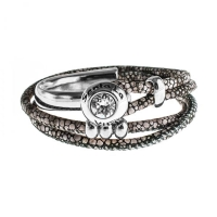 Senta La Vita Stingray Double Wrap Half Bracelet with Swarovski Stone