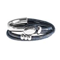 Senta La Vita Perlato Blue Double Wrap Half Bracelet