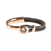 Senta La Vita Taupe Half Bracelet with Swarovski Stone