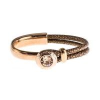 Senta La Vita Bronze Half Bracelet with Swarovski Stone