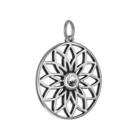 Senta La Vita  Clear Swarovski Lotus Pendant