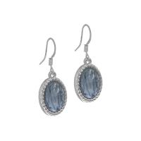 Senta La Vita Silver and Greyed Blue Stone Earrings
