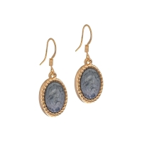 Senta La Vita Rose and Jet Grey Stone Earrings