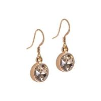 Senta La Vita Champagne Swarovski Rose Earrings